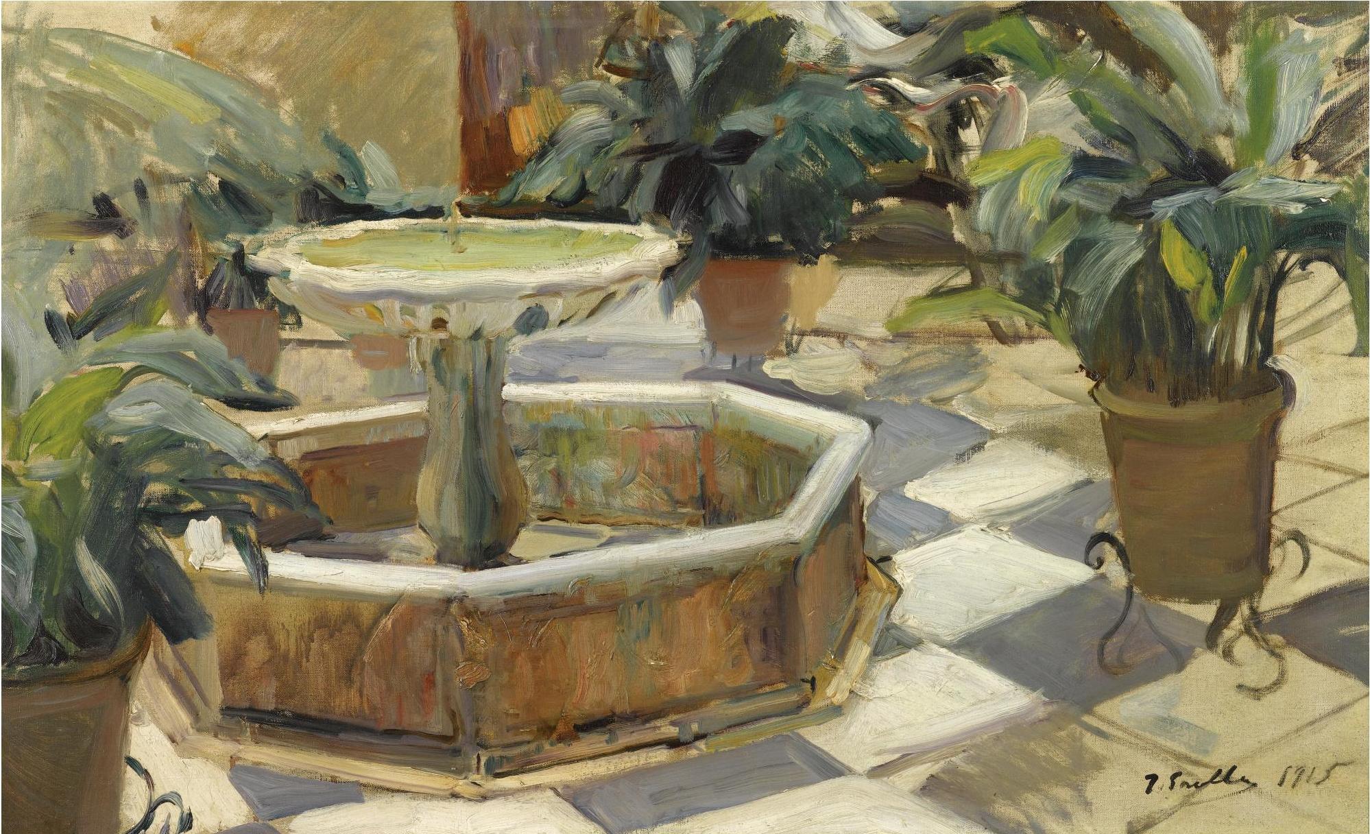 File joaquin sorolla y bastida fuente en un patio - Fuente para patio ...