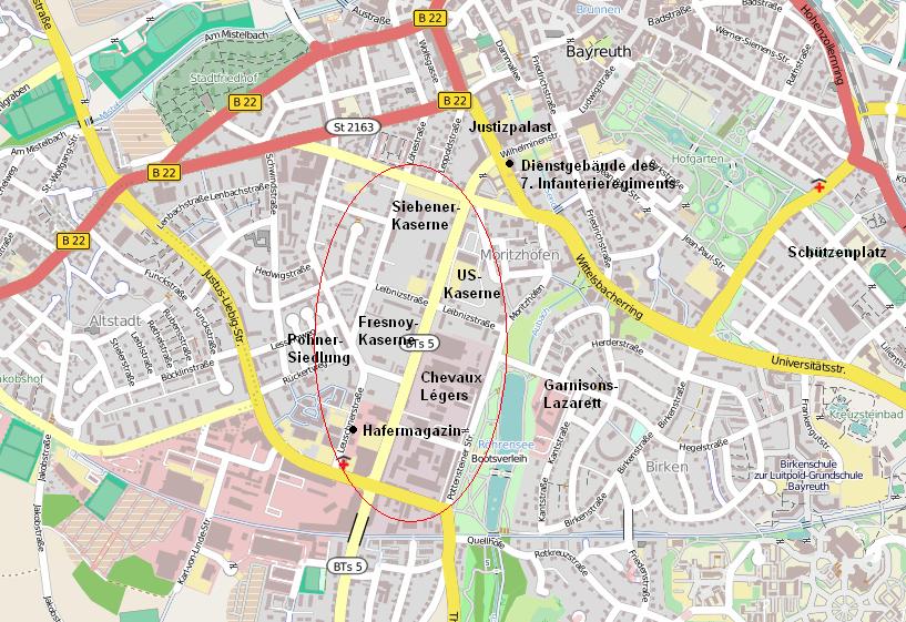 karte bayreuth Datei:Kasernenviertel Bayreuth Karte.PNG – Wikipedia karte bayreuth