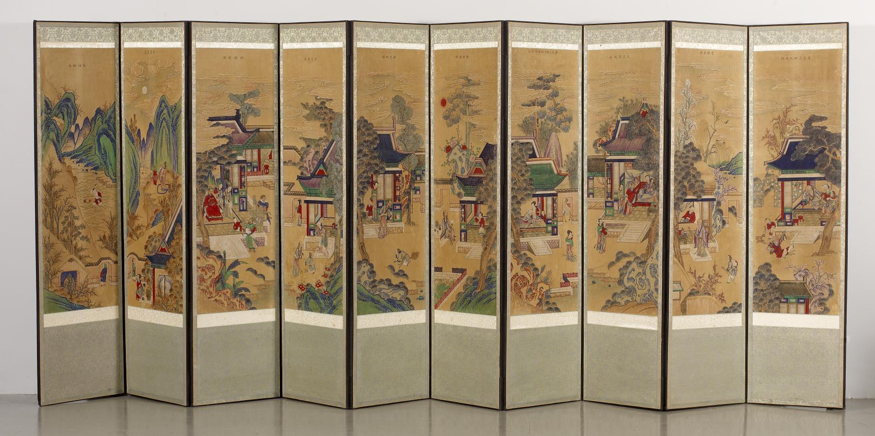 File:Korean - Ten-panel Folding Screen with Scenes of
