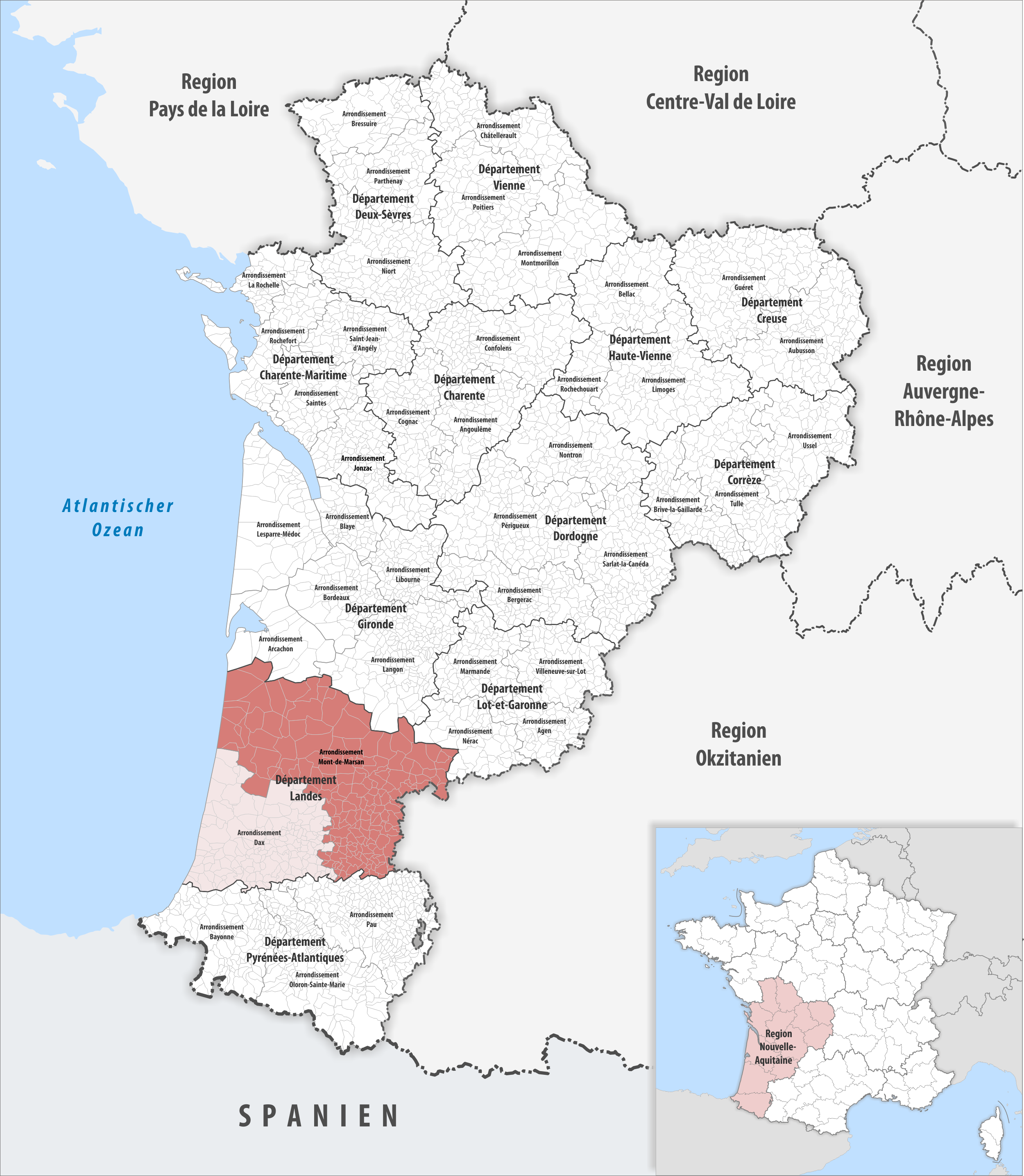 file locator map of arrondissement mont de marsan wikimedia commons. Black Bedroom Furniture Sets. Home Design Ideas