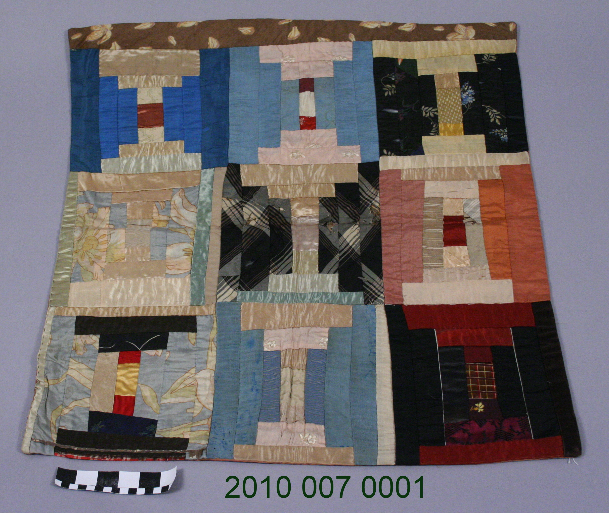 File Log Cabin Patchwork Pillow Cover From 1893 Jpg
