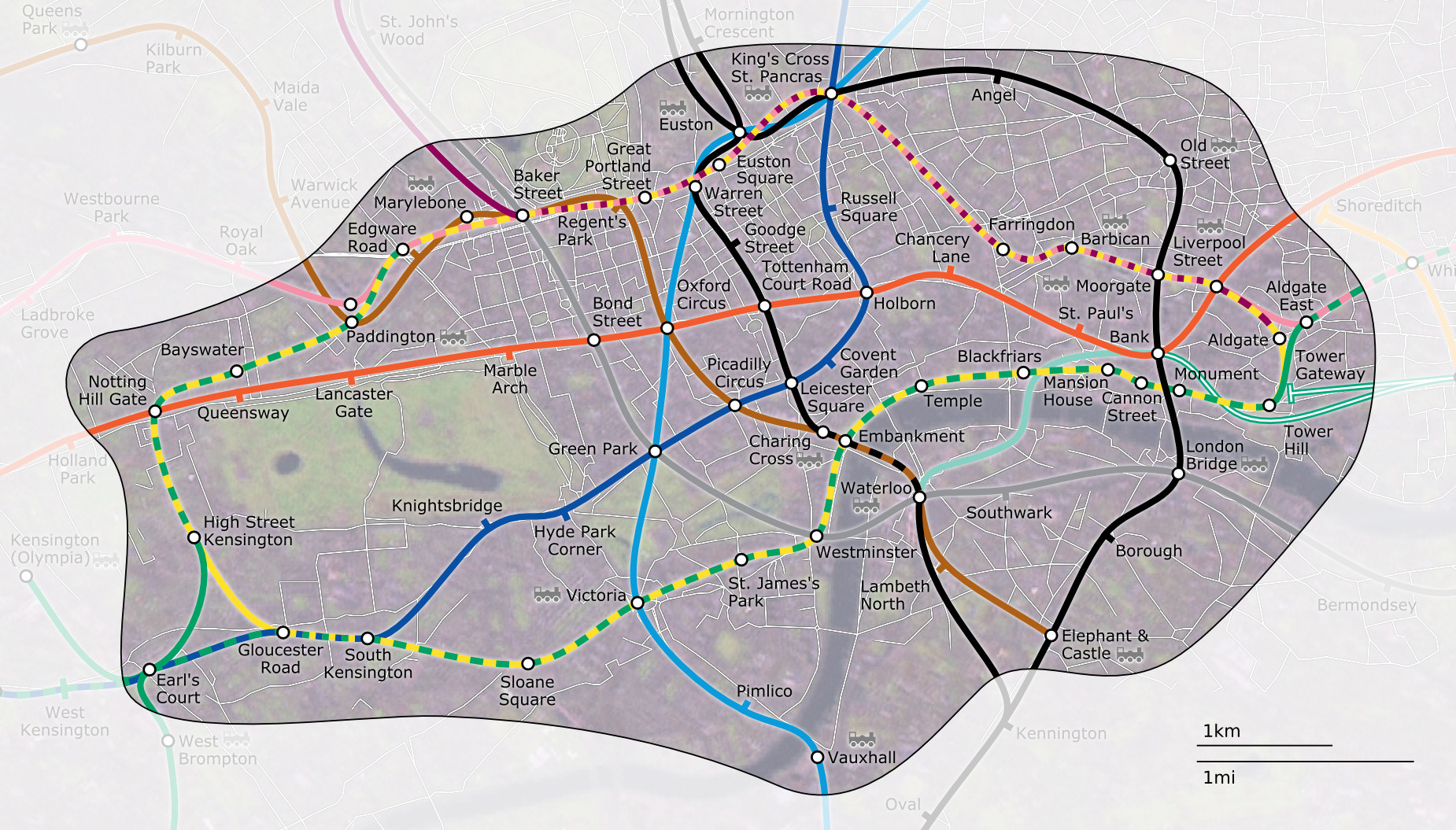 filelondon underground zone 1 with street mapjpg