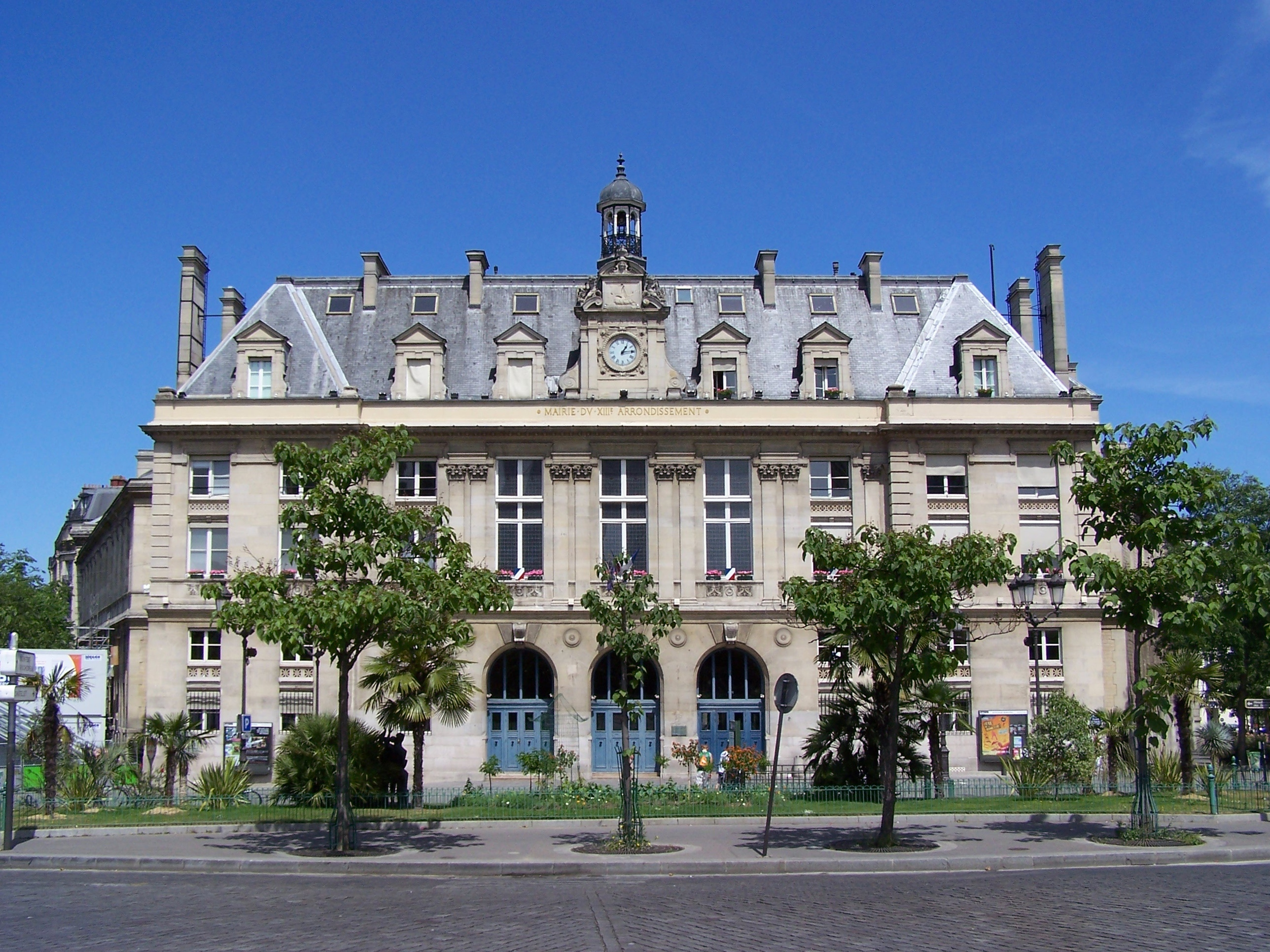 file mairie du 13e arrondissement de paris jpg wikimedia commons. Black Bedroom Furniture Sets. Home Design Ideas