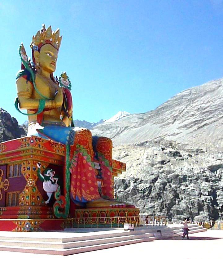 Maitreya statue in Nubra Valley