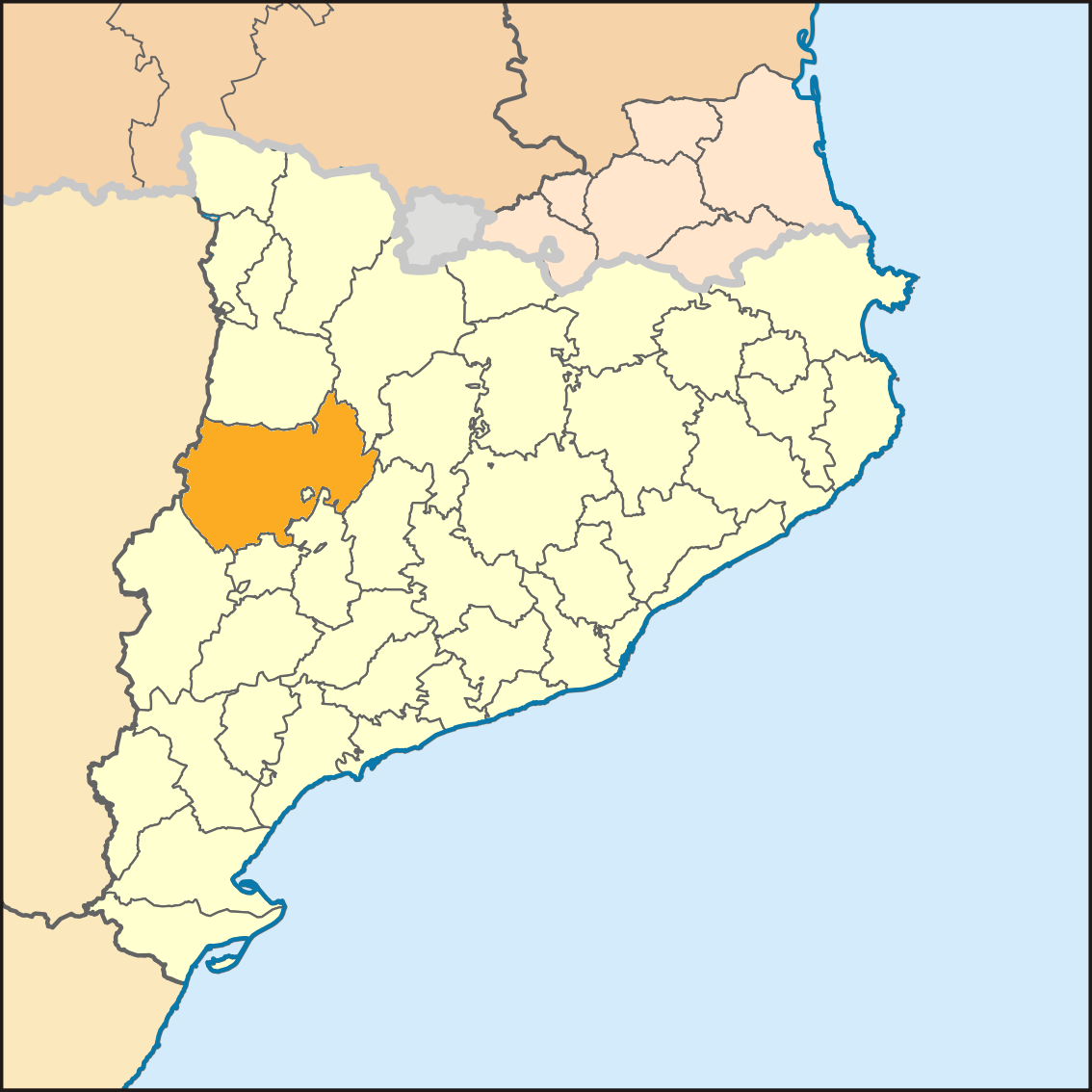 Resultado de imagen de La NOguera mapa