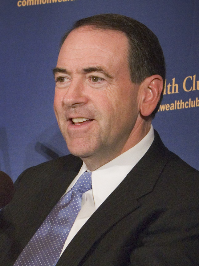Mike Huckabee, speaking to a gathering at the Commonwealth Club in San Francisco.jpg