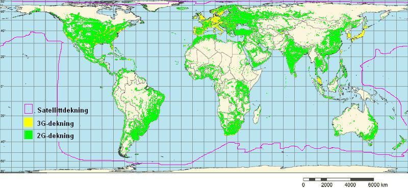 mobildekning kart Mobildekning – Wikipedia mobildekning kart