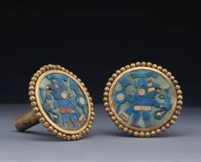 Moche Ear Ornaments. 1-800 AD. Larco Museum Co...