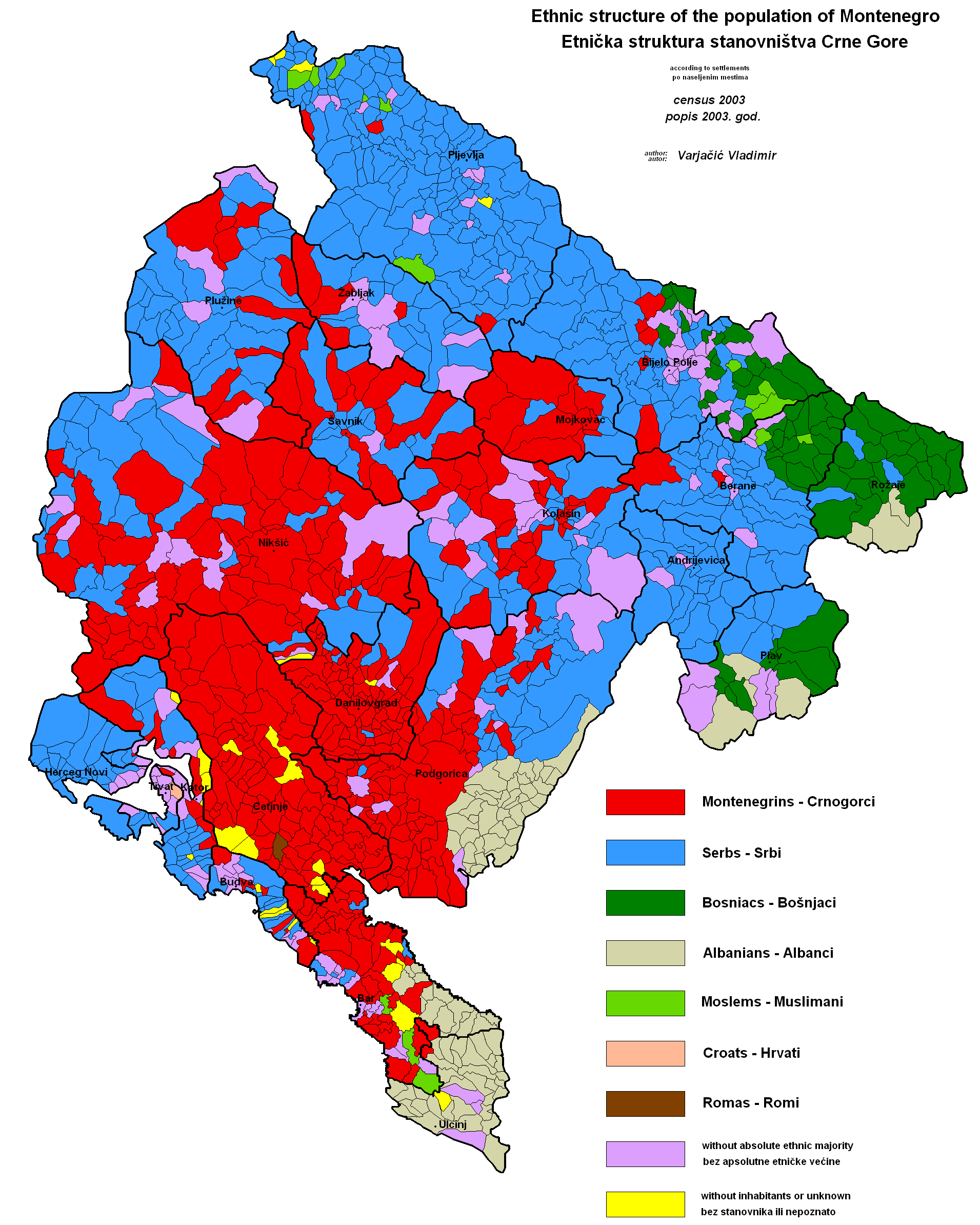 Bar Montenegro Karte.Montenegro In Karten Ein Link Atlas