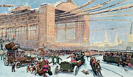 Файл: Москва в XXIII веке.  Центральный Воздух Вокзал.  1914.jpg