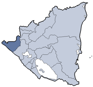 Location of Chinandega department