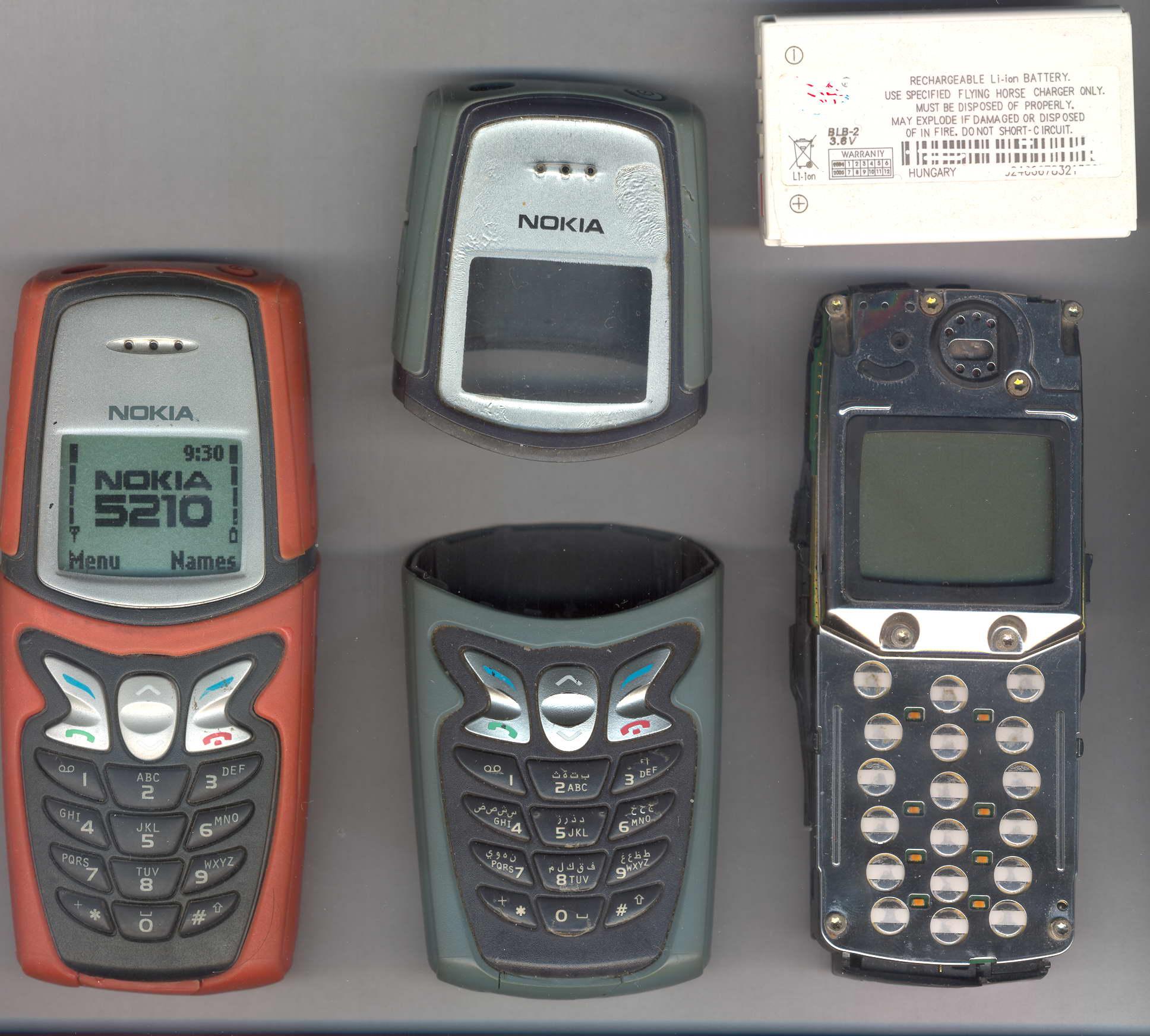 Imagens de telemóveis antigos - Nokia 5210