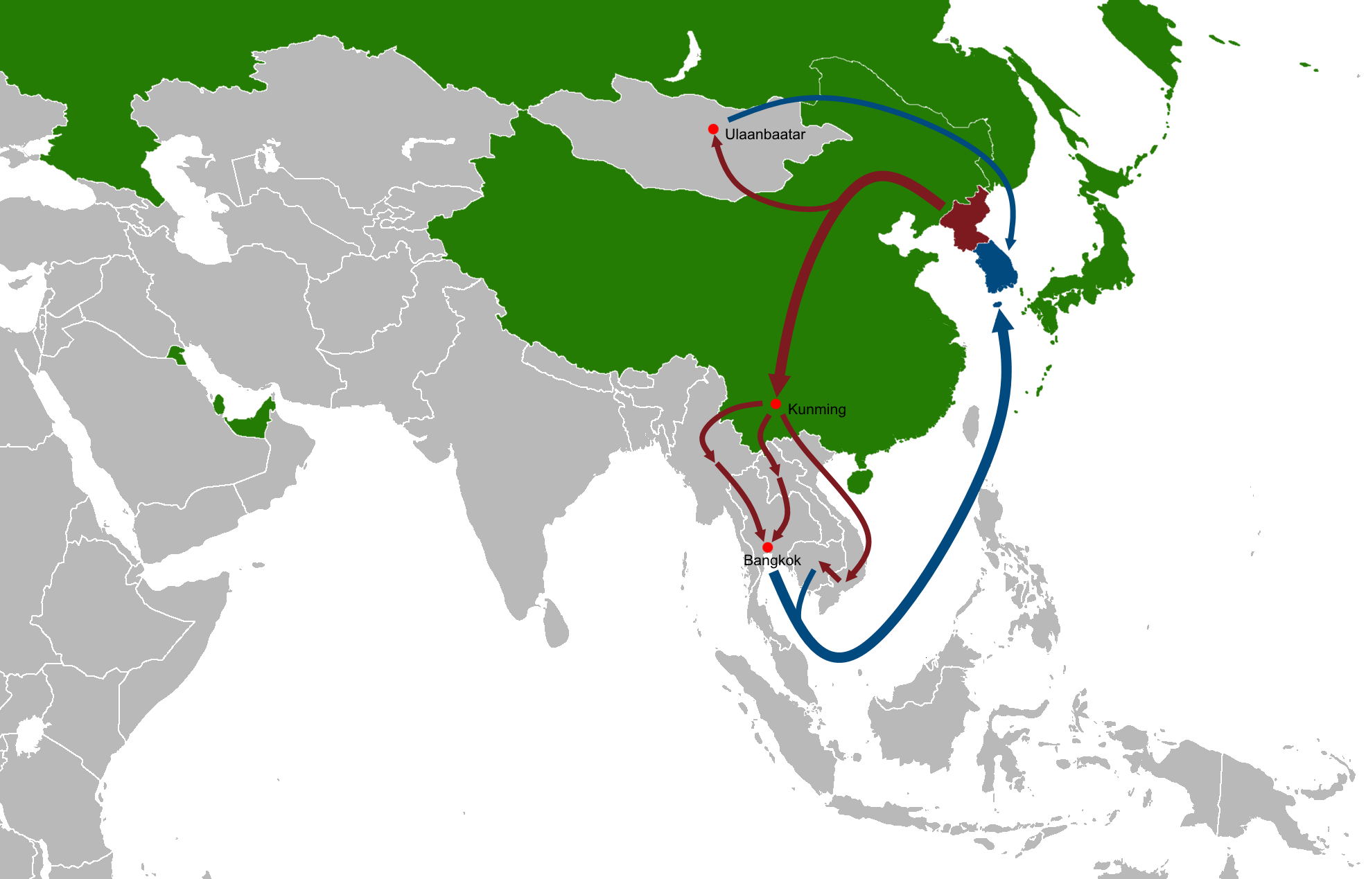 filenorth korean diaspora and defector routes in asia simple mappng