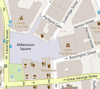 OpenStreetMap map of area