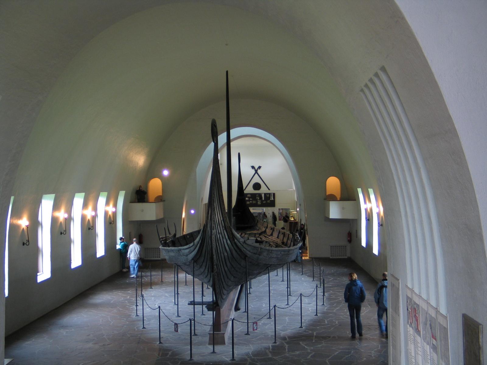 The Oseberg Viking Ship at the Vikingship museum.