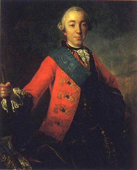 Peter III of Russia by Rokotov (before 1758, Russian museum).jpg