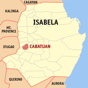 Map of Isabela showing the location of Cabatuan