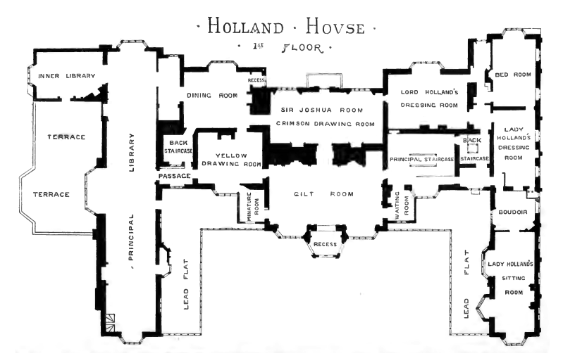 File Plan Of Holland House 1875 First Floor Png