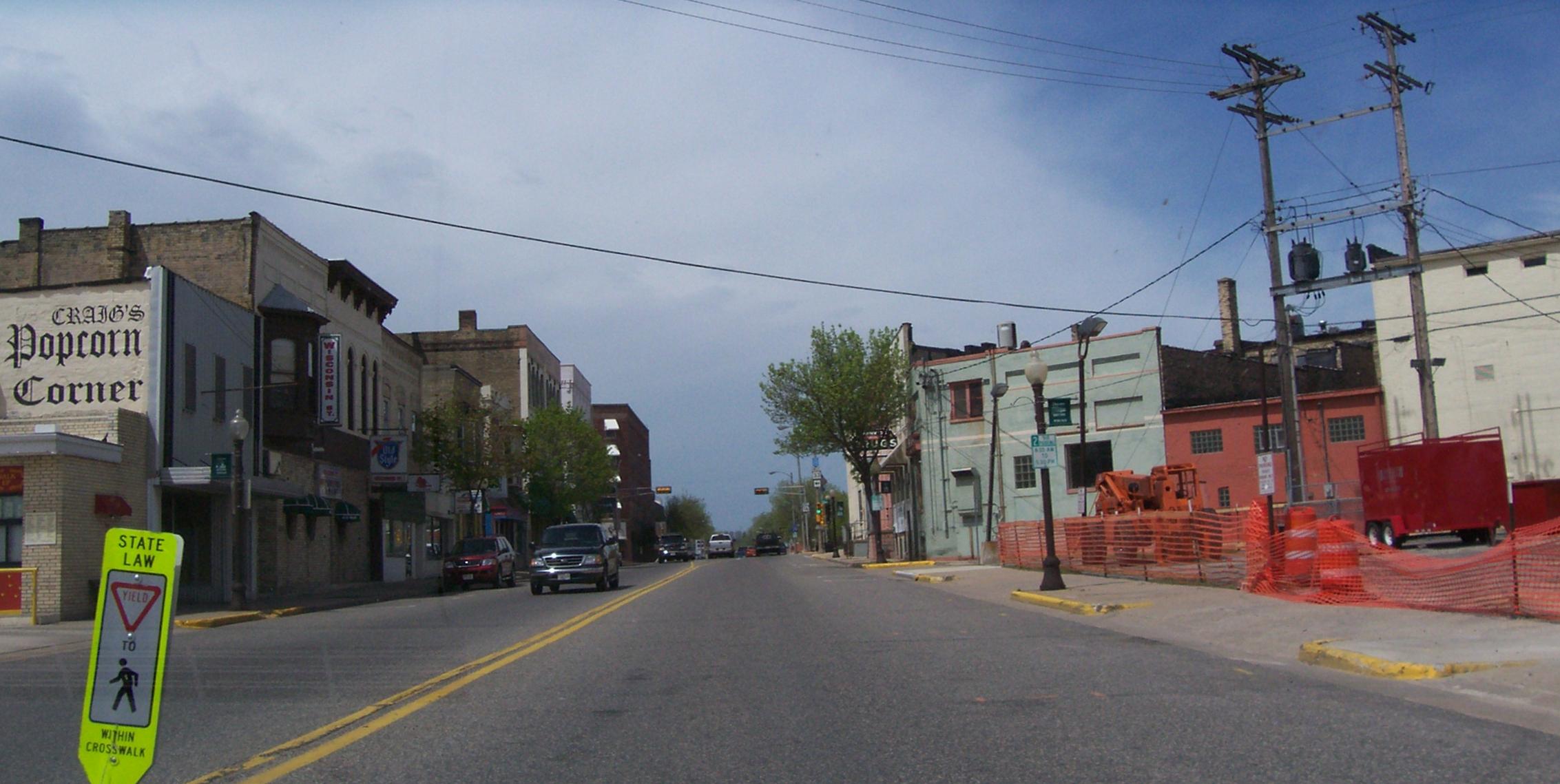 File:PortageWisconsinDowntown1.jpg