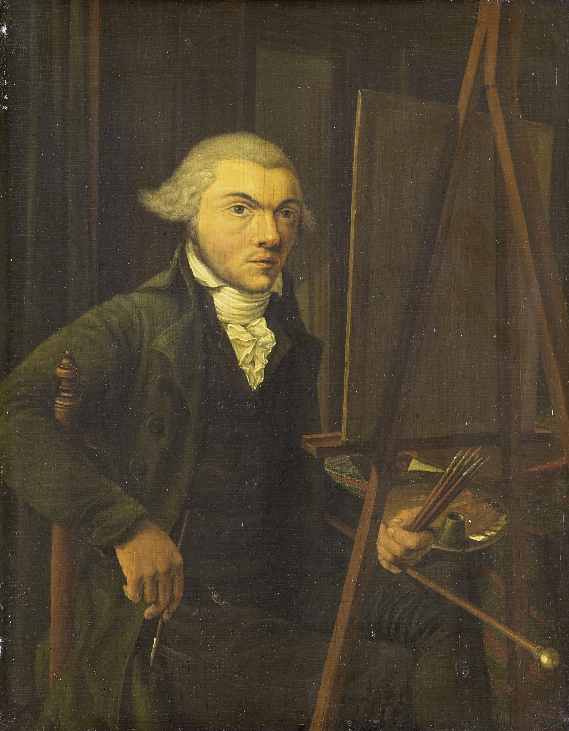 file portret van een schilder vermoedelijk harmanus On uurloon van een schilder