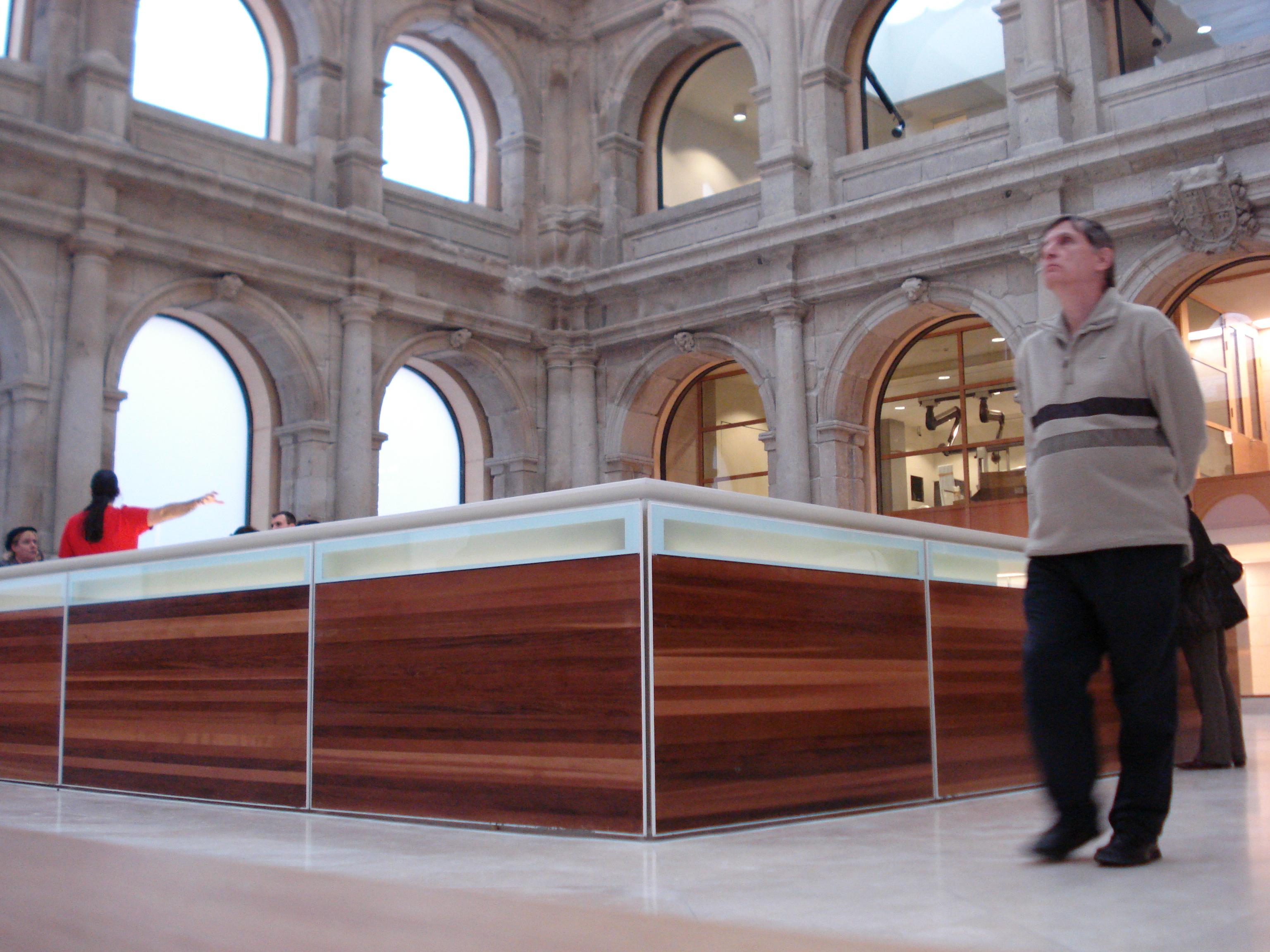 filerafael moneo integra el claustro de los jernimos en la biblioteca del museo del