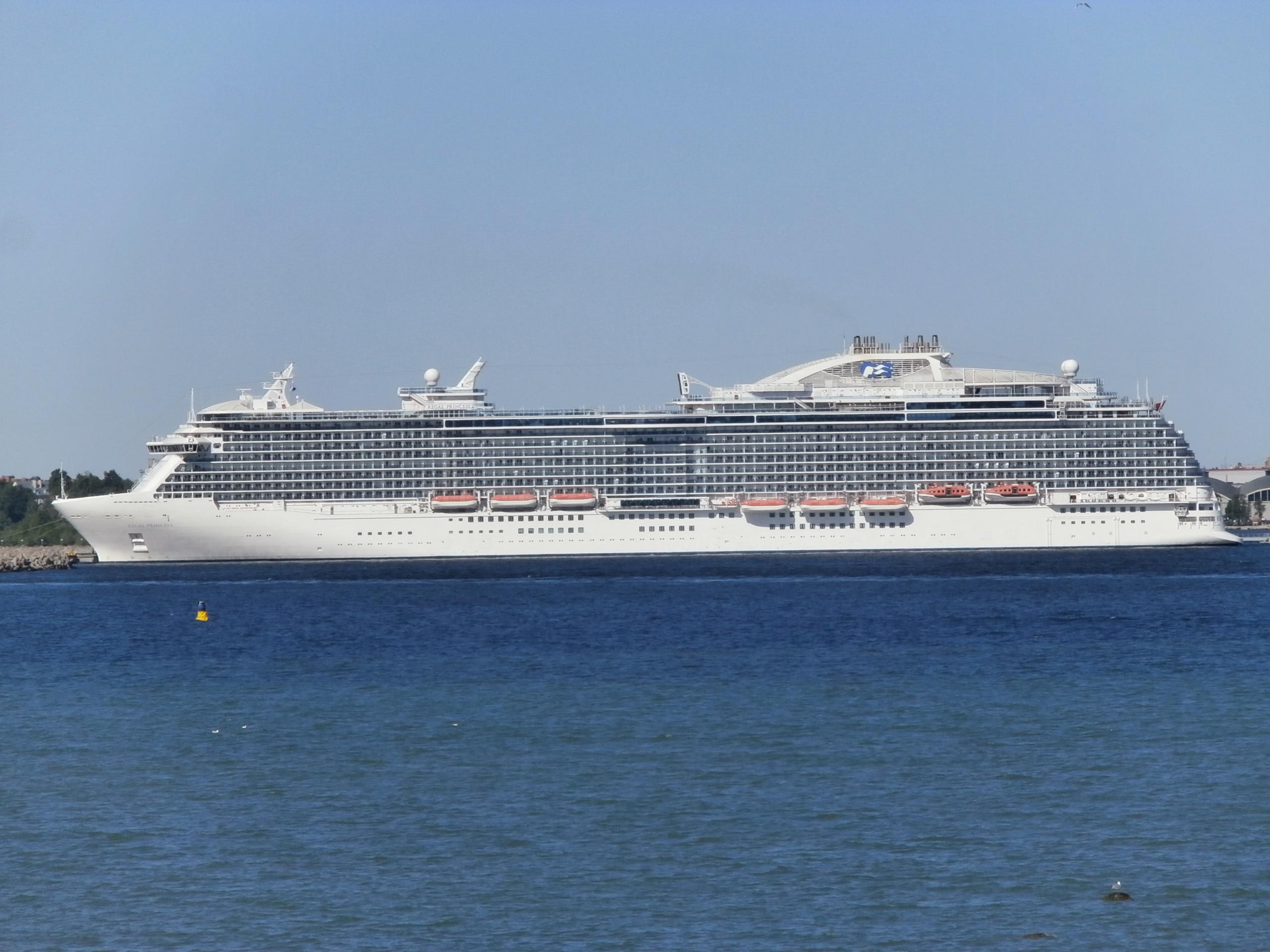 FileRegal Princess Port Side Tallinn June JPG Wikimedia - Port side of a cruise ship
