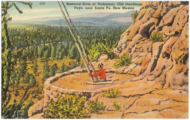 ... , at prehistoric cliff dwellings, Puye, near Santa Fe, New Mexico.jpg