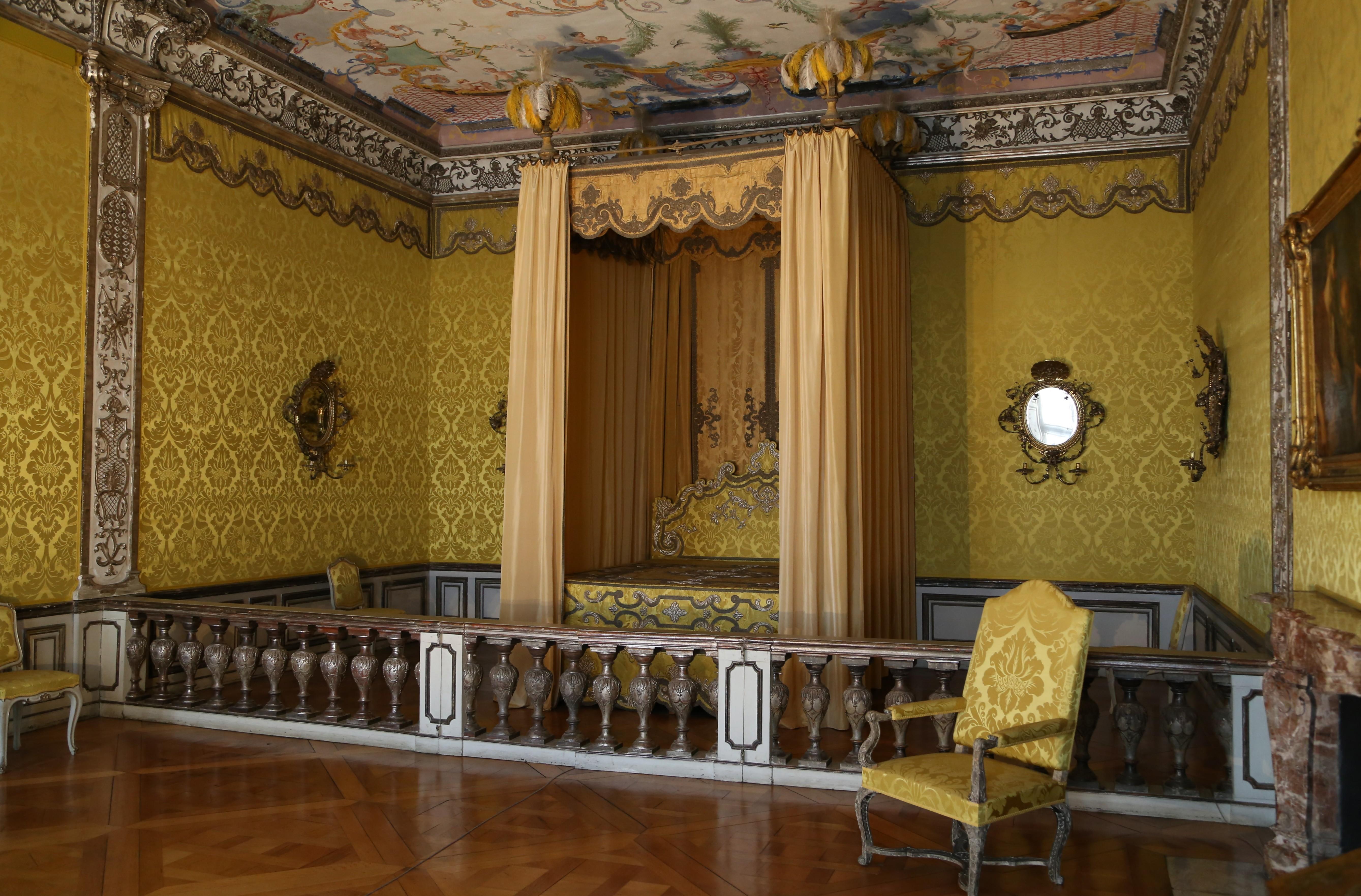 Schloss Schlafzimmer | File Schlafzimmer Der Kurfuerstin Neues Schloss Schleissheim 1 Jpg