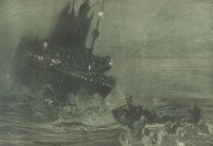 a description of the sinking of the titanic Titanic a été réalisé avec l'aide de deux historiens spécialistes du sujet, don lynch et ken marschall  sos, titanic, position 4144 n 5024 w sinking.