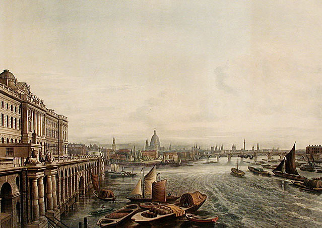 Somerset House THS 1817 edited - Thames Embankment opened 150 years ago