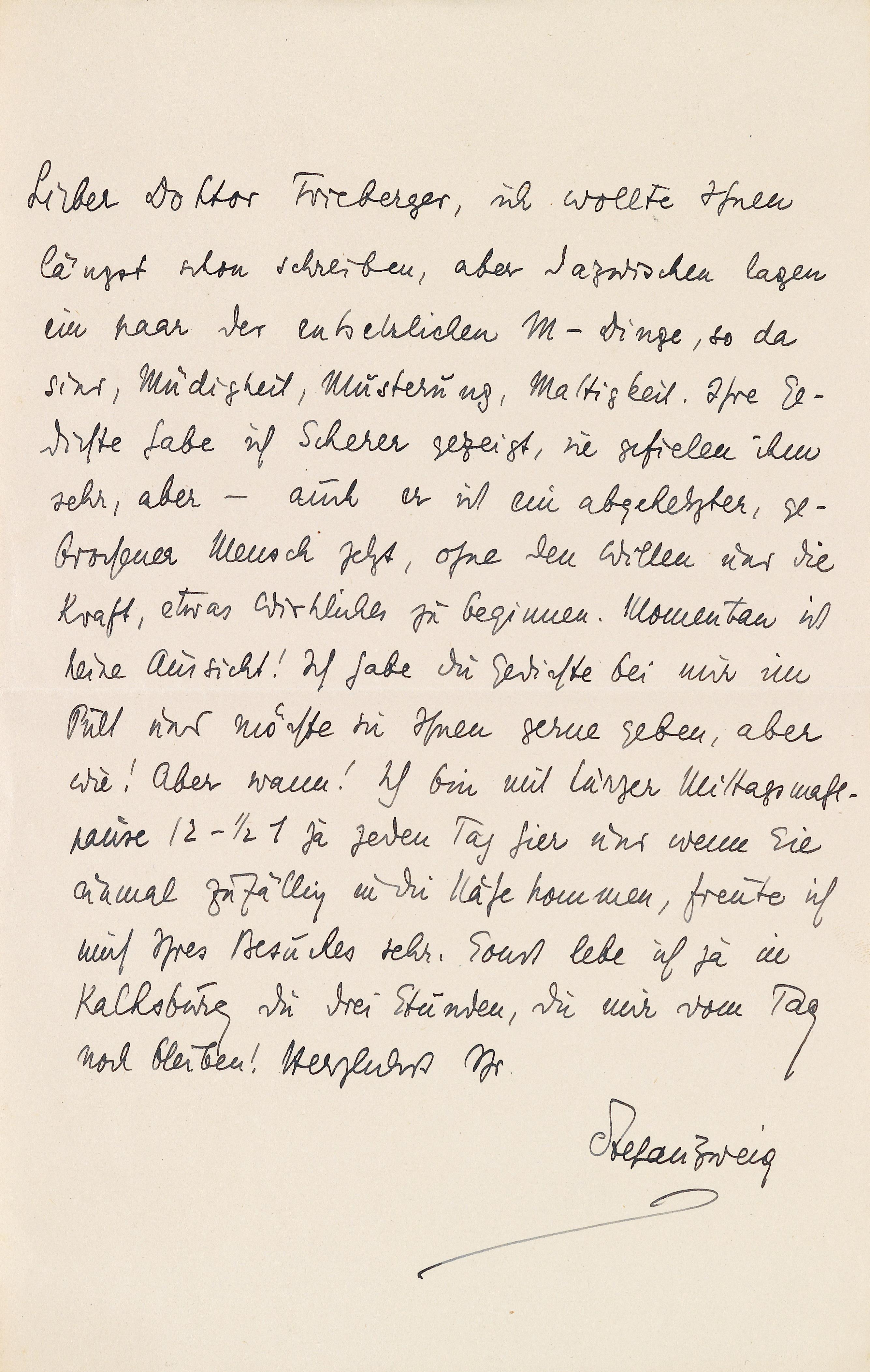 Filestefan Zweig An Kurt Frieberger C1916jpg Wikimedia