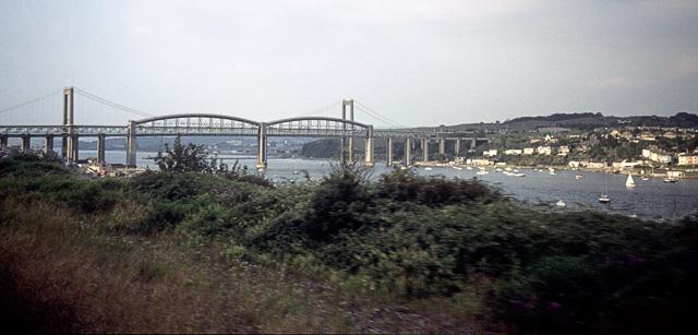 Tamar bridges from Saltash - geograph.org.uk - 1510326