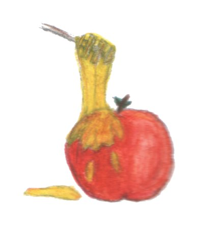Apple with honey, by Shirley