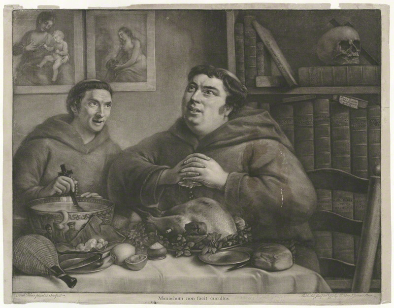 Theodosius Forrest as a monk, with Francis Grose