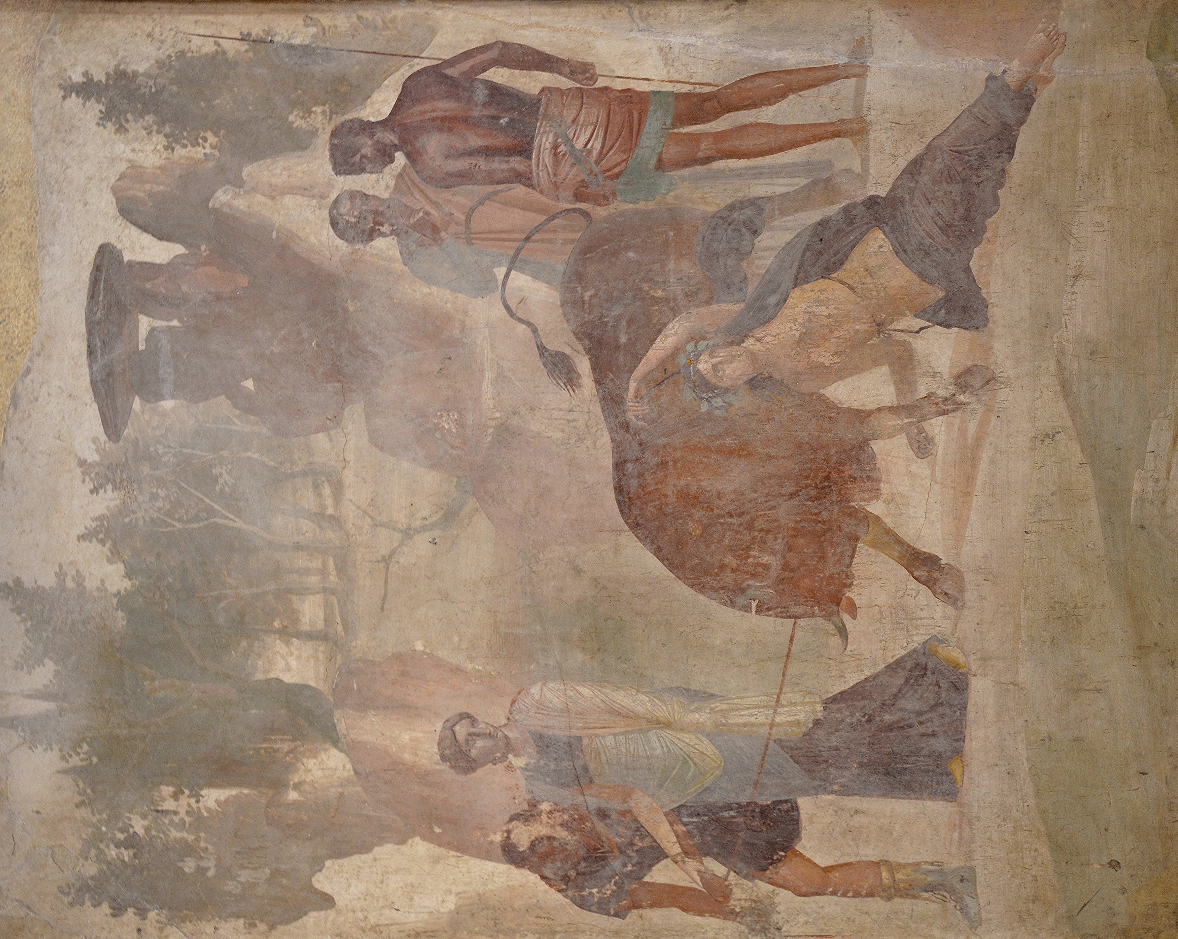 File Third Style Fresco Depicting The Punishment Of Dirce