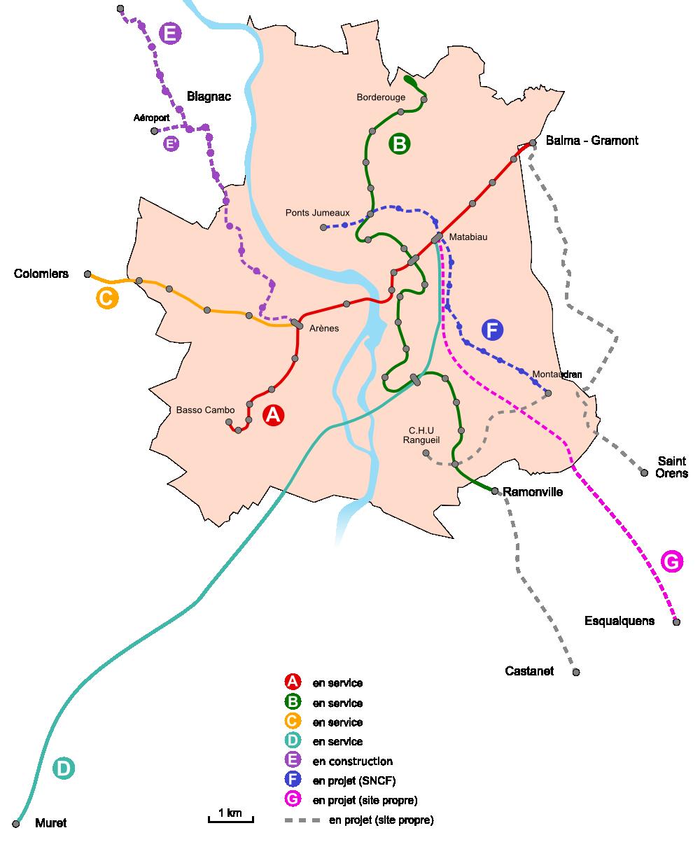 Toulouse Metro Toulouse subway