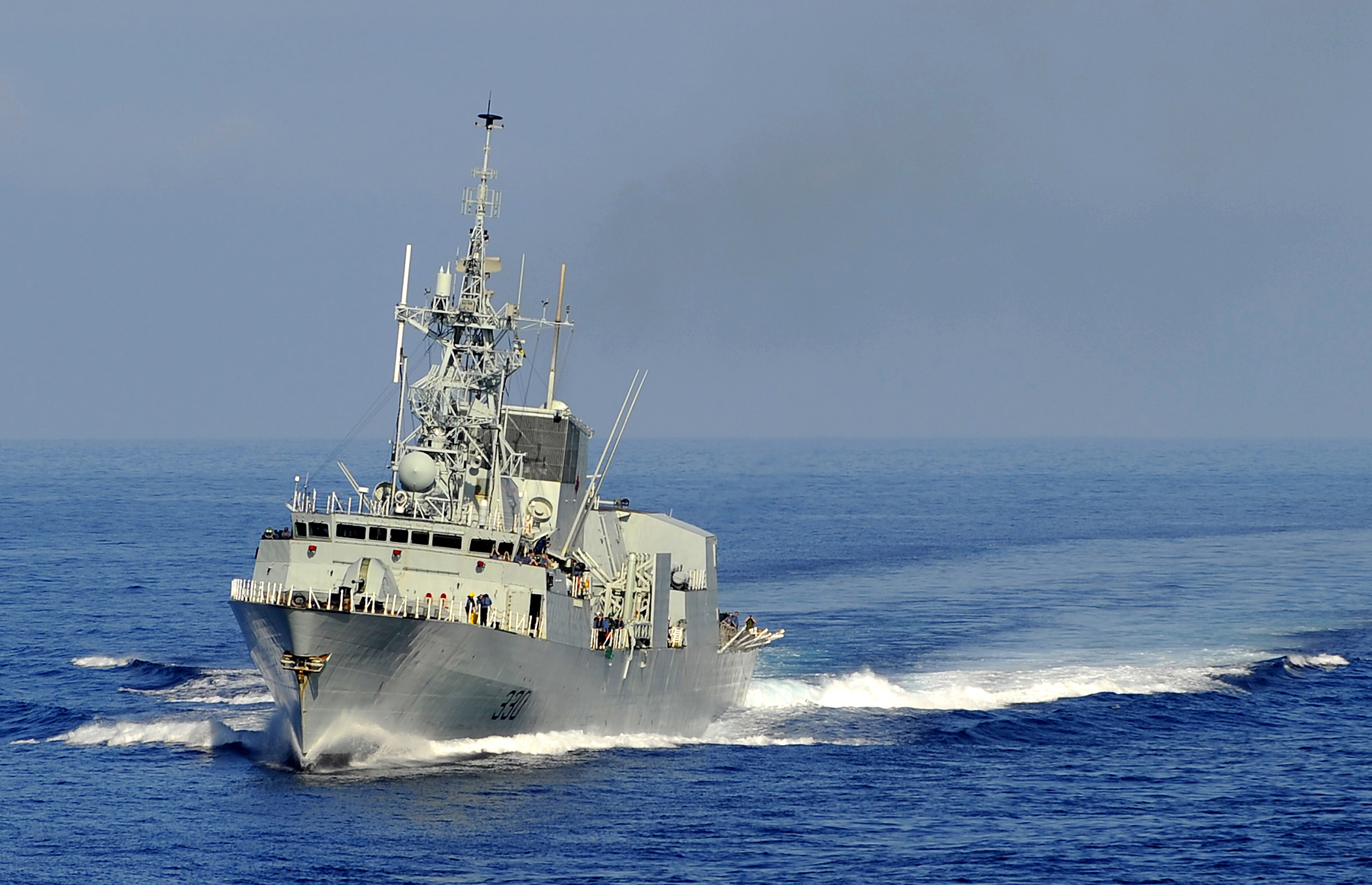Halifax Navy Ships Decorate For Christmas