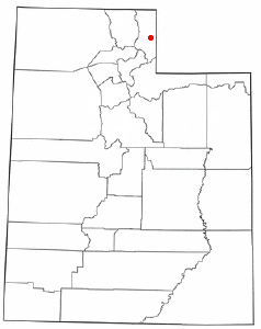 Location of Woodruff, Utah
