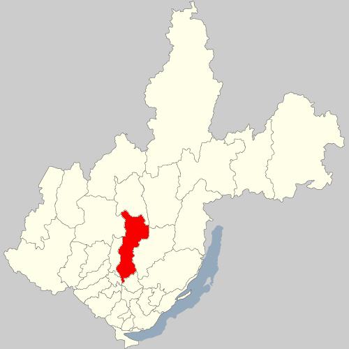 Усть-Удинский район на карте