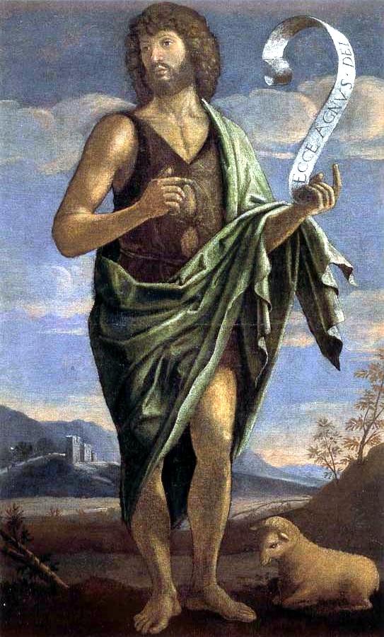 Chrzciciel datuje kościół chrystusa