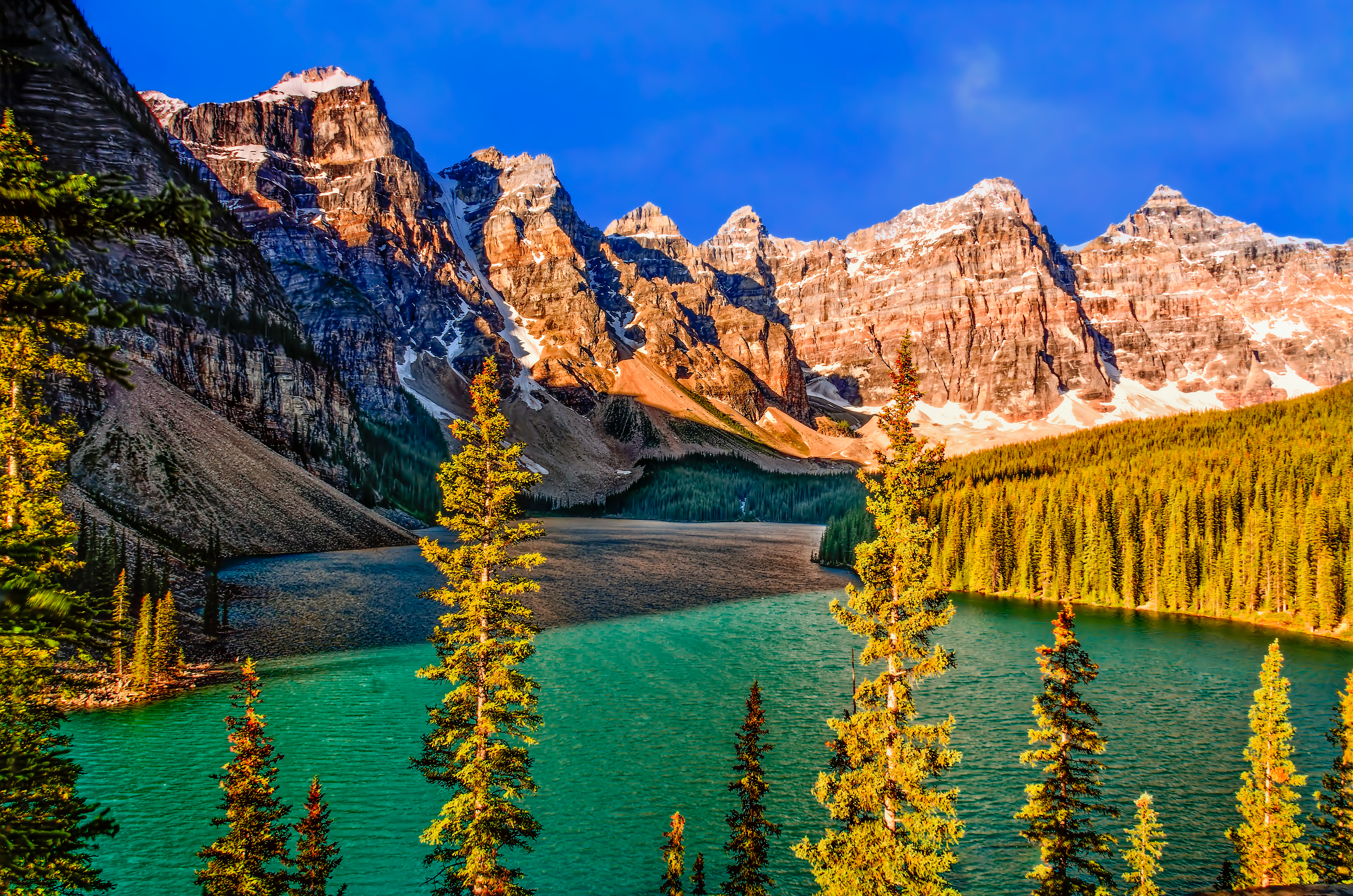 File View From Above On Moraine Lake Alberta Canada Banff