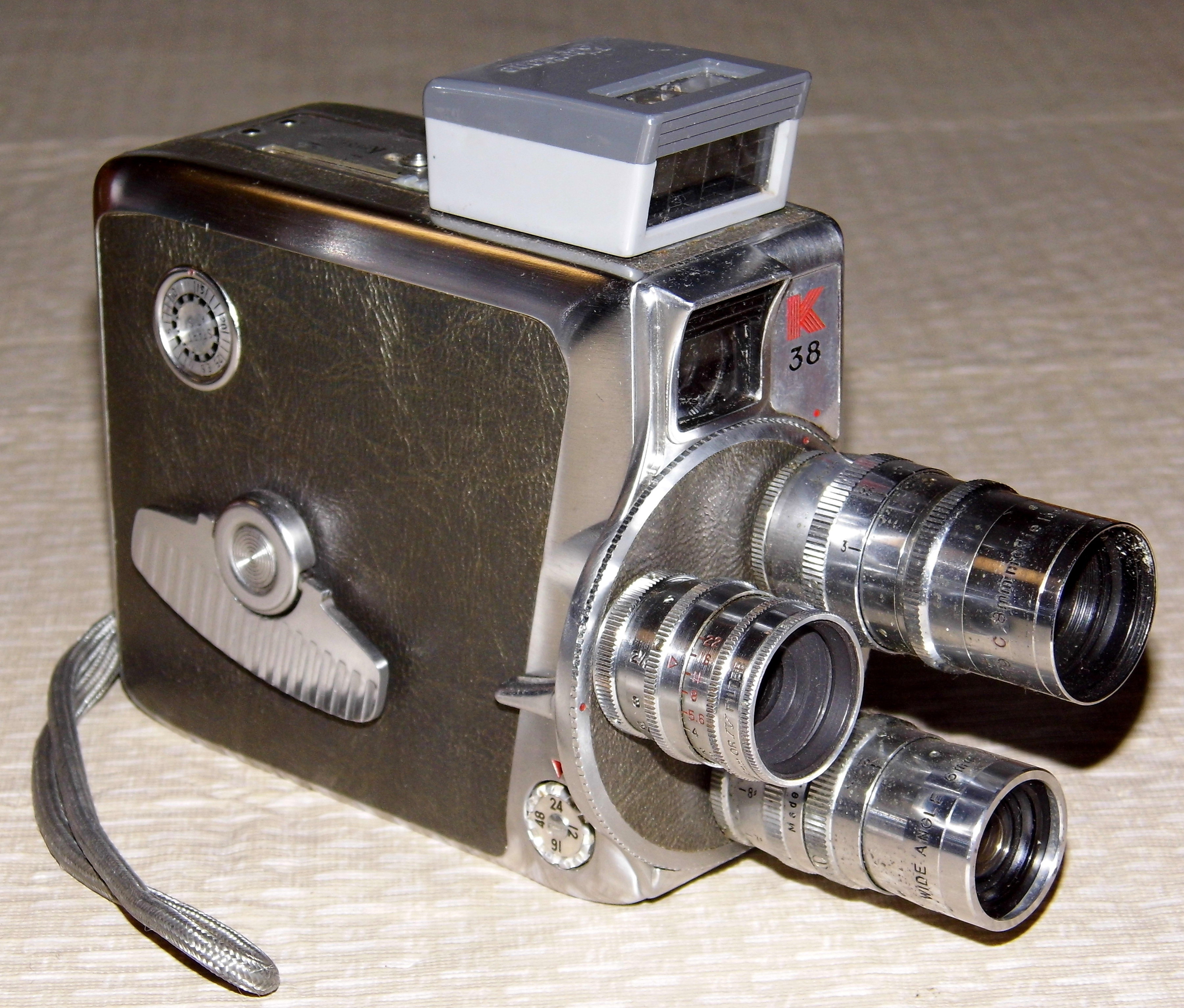 8Mm Vintage Camera file:vintage keystone 8mm turret movie camera, model k38