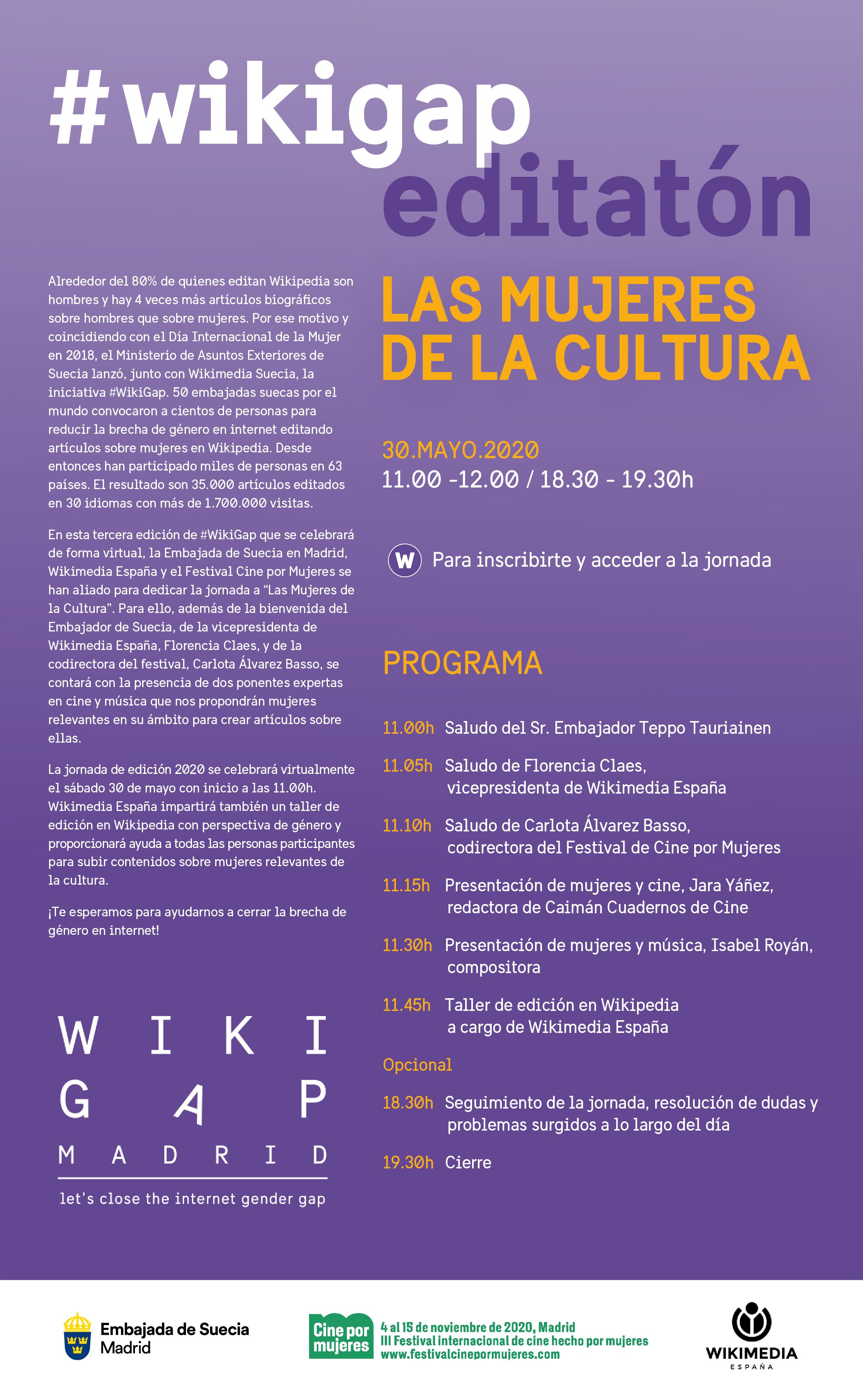 WikiGap 2020 @ Wikipedia:Encuentros/WikiGap Madrid 2020