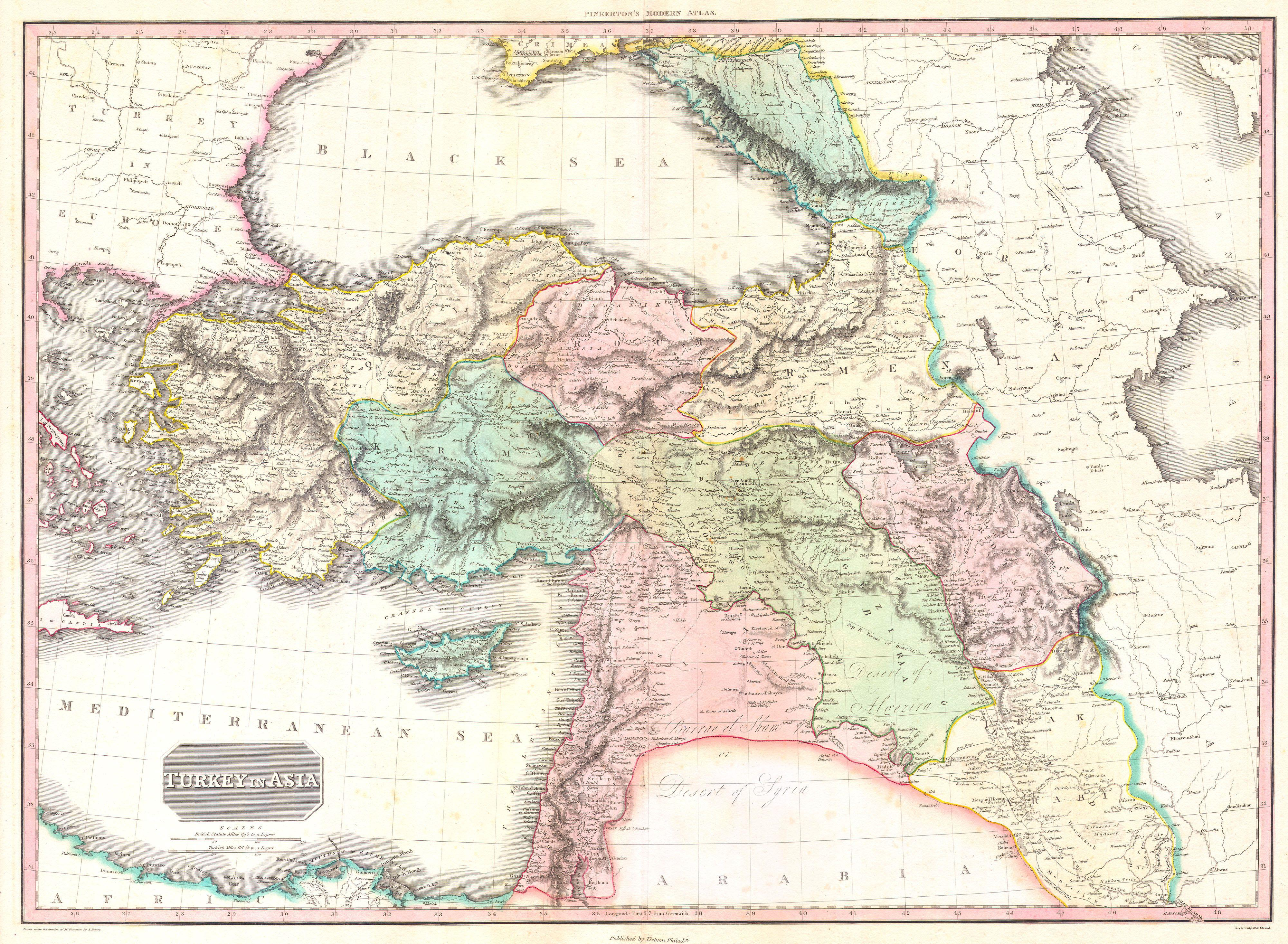 File 1818 Pinkerton Map Of Turkey In Asia Iraq Syria