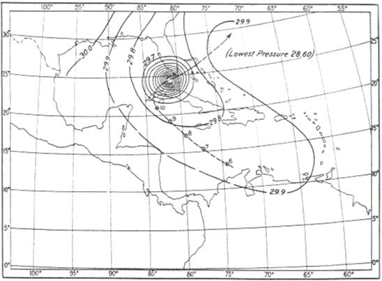 Weather Map Florida.File 1909 Florida Keys Hurricane Weather Map Png Wikipedia