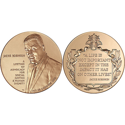 2003 Jackie Robinson Congressional Gold Medal.jpg