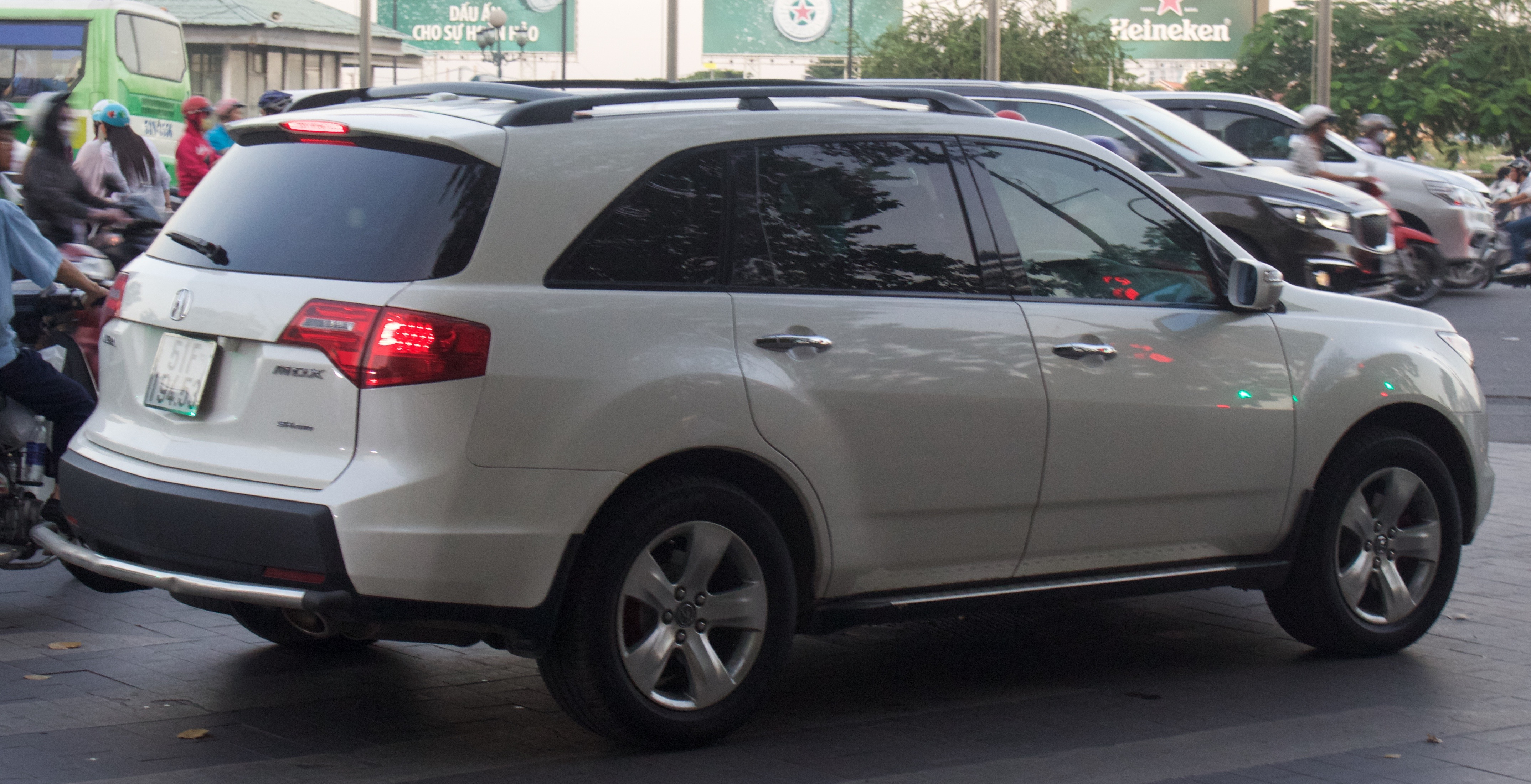 File 2008 2009 Acura Mdx Rear View Jpg Wikimedia Commons