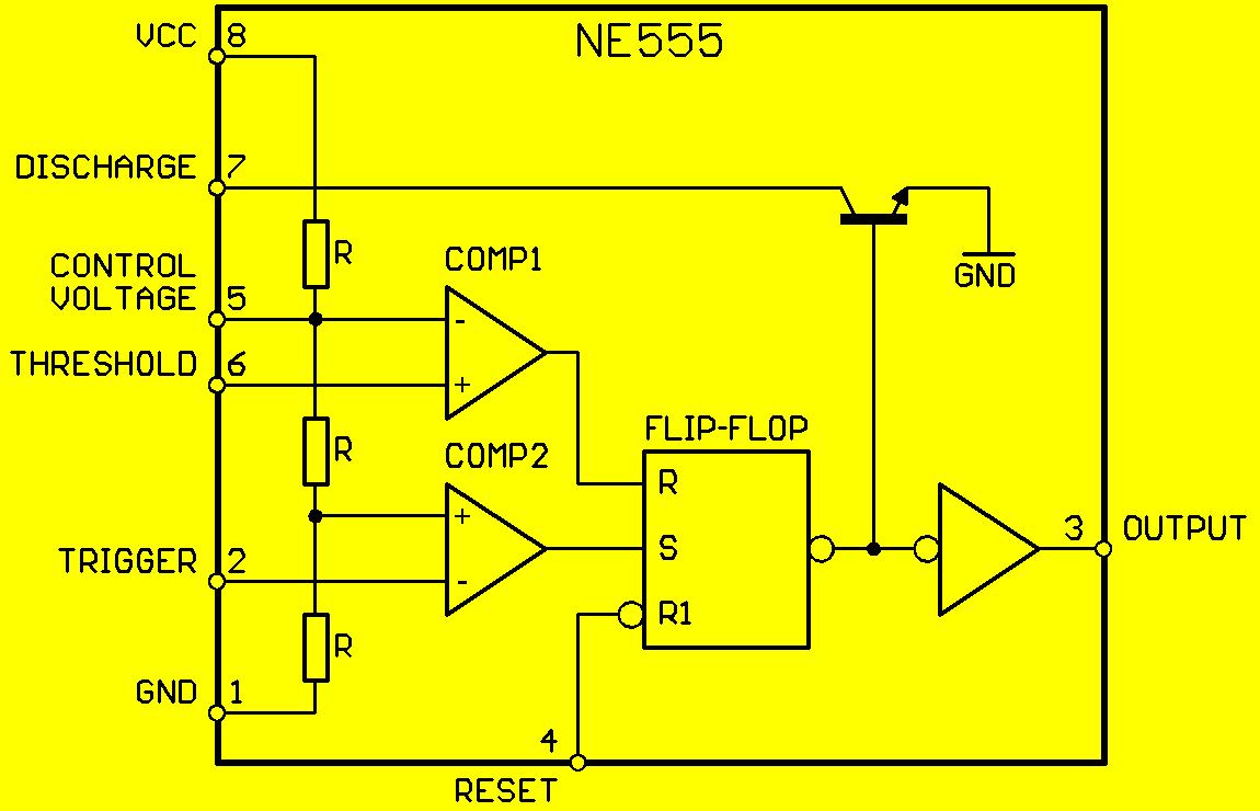Circuito Oscilador 555 : Circuito integrado