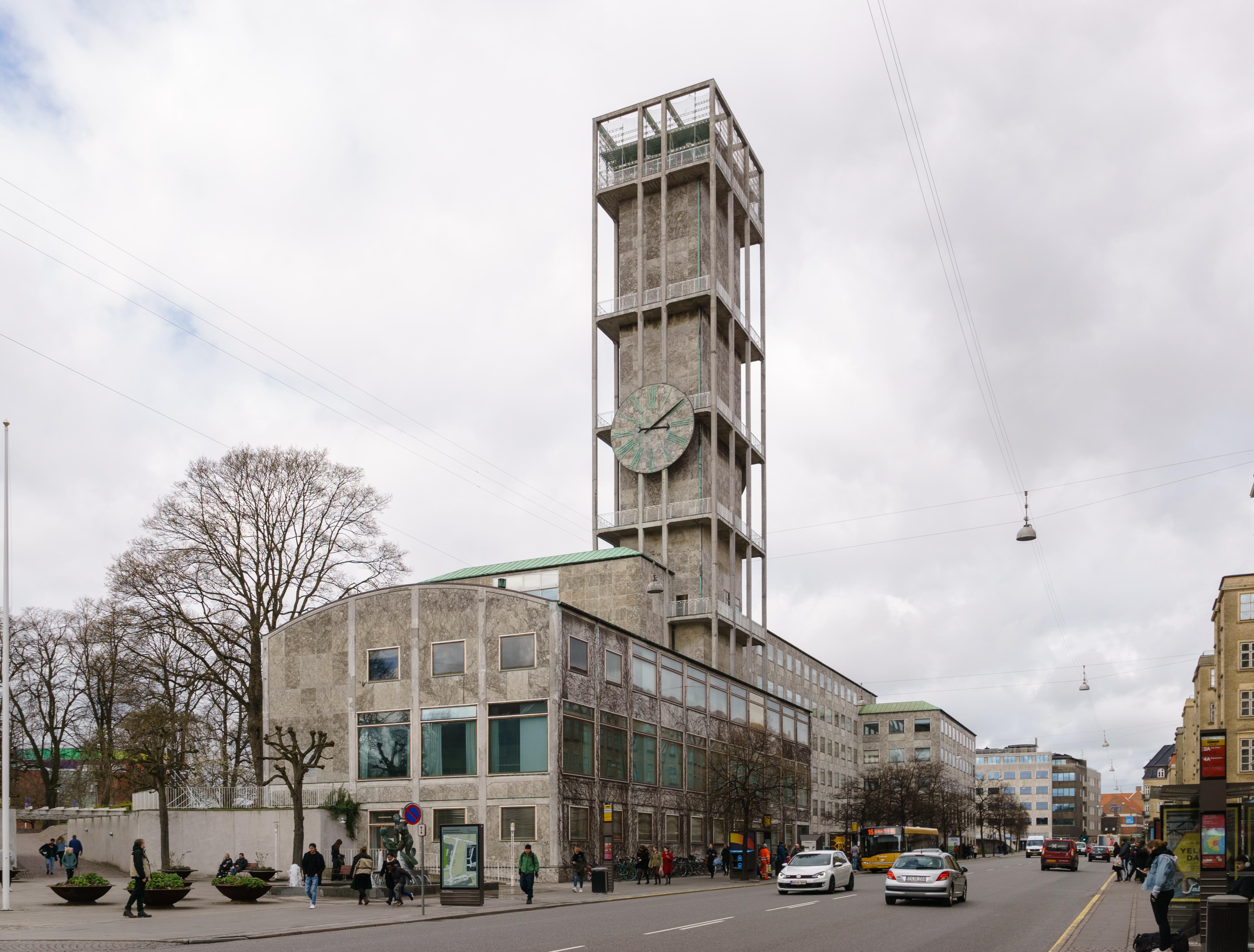 Aarhus City Hall, Denmark (1941) by Arne Jacobsen and Erik Møller [4694x3563]
