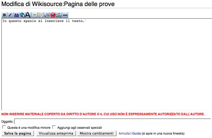 Aiutocome Modificare Una Pagina Wikisource